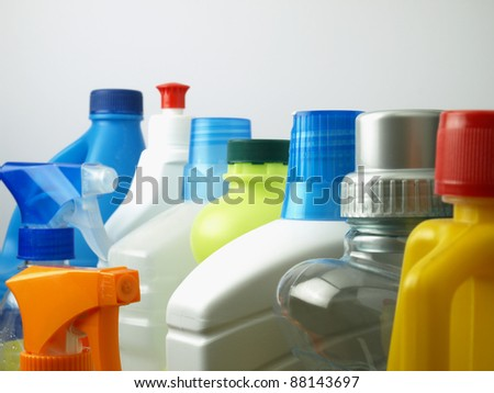 Household cleaners - stock photo