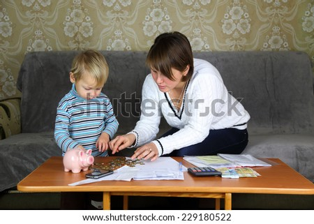 household finances - stock photo