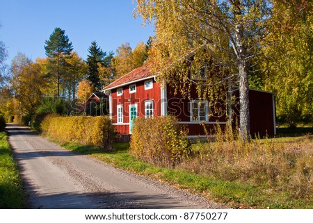Houses and environment in Sweden. - stock photo