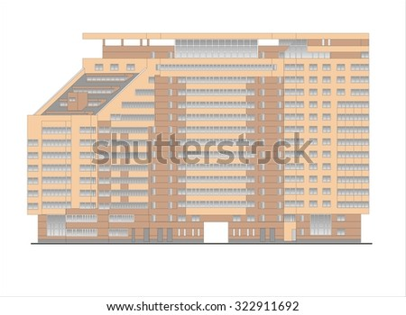 Houses, Buildings, Constructions, Installations. Illustrations of buildings and houses urban sites, drawings of homes classic architecture .