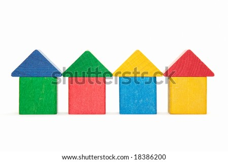houses from child bricks