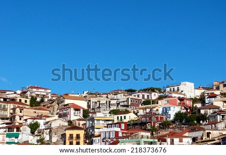 Houses from Parga town ,Greece. - stock photo