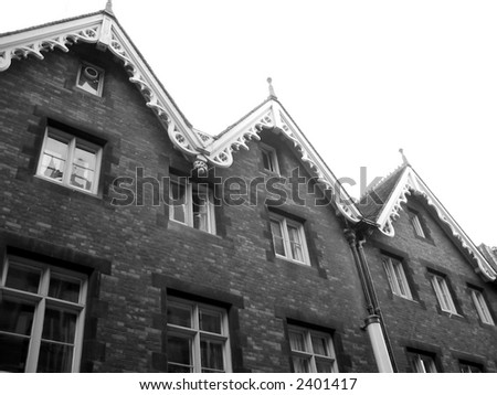 Houses in Black and White - stock photo
