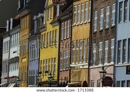Houses in Copenhagen, Denmark - stock photo