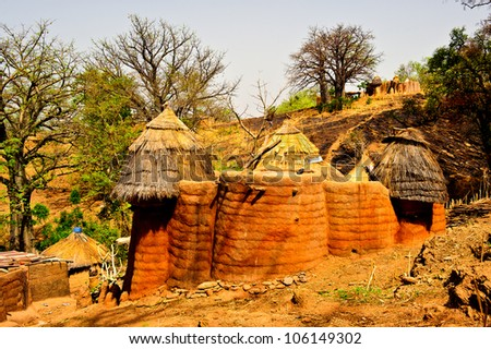 Houses in Madagascar, living places - stock photo