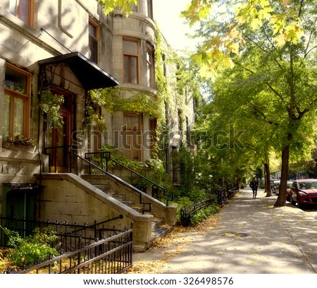 Houses in Montreal, Canada - stock photo