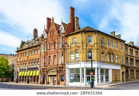 Houses in the city centre of Southampton, England - stock photo
