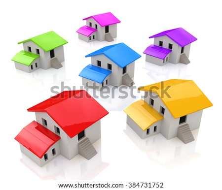 Houses in the design of the information related to real estate - stock photo