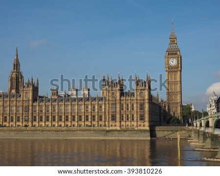 Houses of Parliament aka Westminster Palace in London, UK