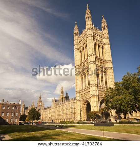 Houses of Parliament in London, United Kingdom - stock photo