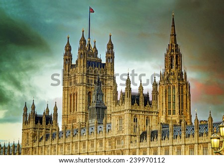 Houses of Parliament, London, England, UK - stock photo