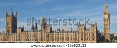 Houses of Parliament Westminster Palace London gothic architecture - stock photo