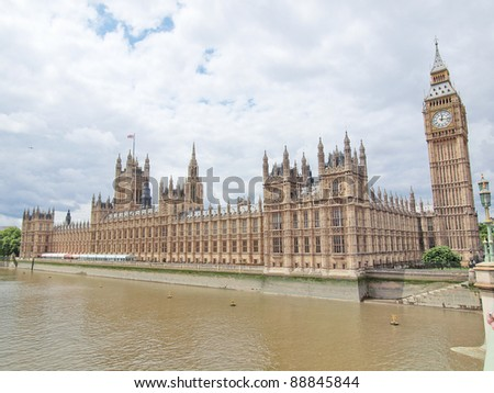 Houses of Parliament Westminster Palace London gothic architecture