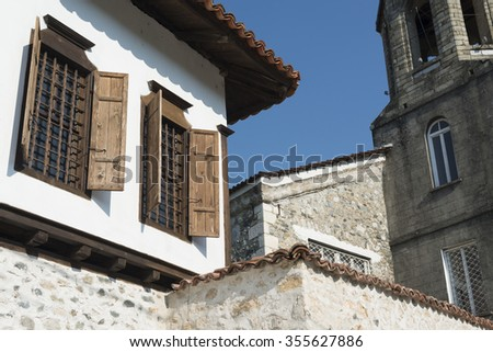 houses of Zlatograd - stock photo
