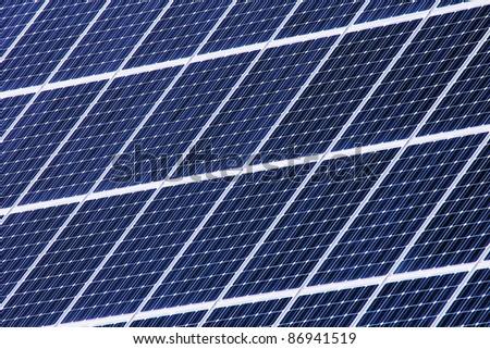 Housetop with solar - stock photo