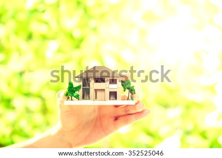 Housing, green background