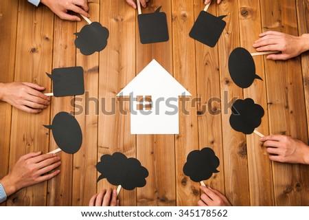 Housing image,everyone's opinion - stock photo