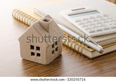 Housing plan - stock photo