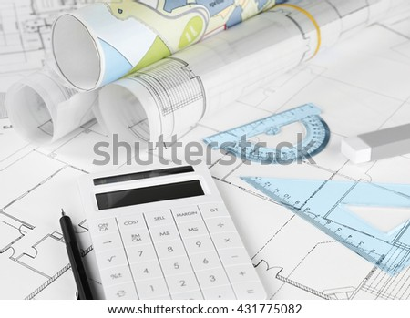 Housing project costs - stock photo