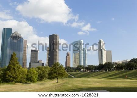 Houston Downtown/Park 1 - stock photo