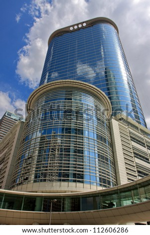 HOUSTON - JUNE 24: Chevron Corp. agreed to buy a 50-floor skyscraper that used to be the headquarters of Enron Corp. June 24, 2011 in Houston, Texas. - stock photo