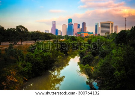 Houston Skyline - stock photo