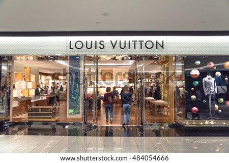 HOUSTON, US-AUG 27, 2016:Entrance of Louis Vuitton store at Galleria Mall. LV is French fashion house founded in 1854 with luxury shoes, watches, jewelry, accessories in more than 460 stores worldwide