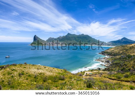 Hout Bay Cape Town summer tourist vacation - stock photo