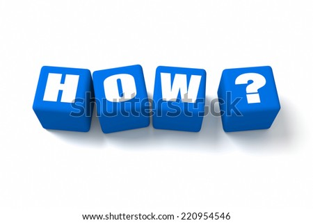 How Blue cubes. Part of a series. - stock photo