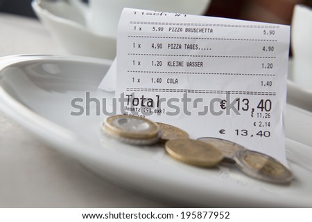 how much tip - stock photo