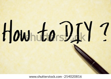 how to DIY text write on paper  - stock photo
