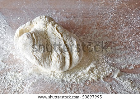 How to Knead Bread - stock photo