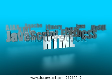 HTML and around - Building a website - stock photo