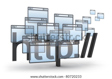 http abstract 3D concept - stock photo
