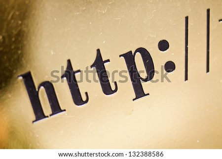 http - isolated text on grungy metal background - stock photo