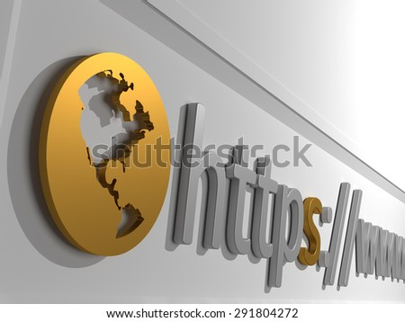 Https - An address bar containing the start of a domain. The letters https:// - stock photo