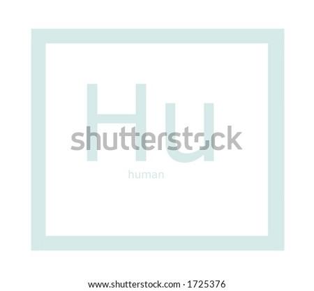 Hu Human Element On Periodic Table Stockfoto Jetzt Bearbeiten