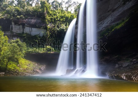 Huai Luang Waterfall in Thailand - stock photo