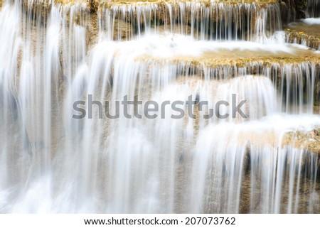 Huai Mae Khamin waterfall in Thailand. - stock photo
