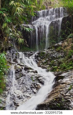 Huay Kaew waterfall Chiang Mai in Thailand - stock photo