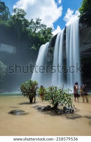 Huay Luang waterfall, waterfall in Ubon Ratchathani Province thailand - stock photo