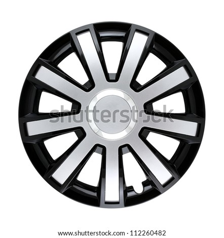 Hubcap isolated with clipping path