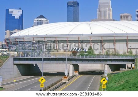 Hubert H. Humphrey Metrodome, Minneapolis, MN - stock photo
