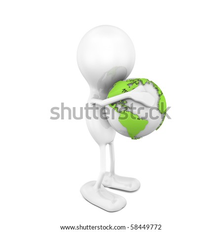 Hug for the Planet - stock photo