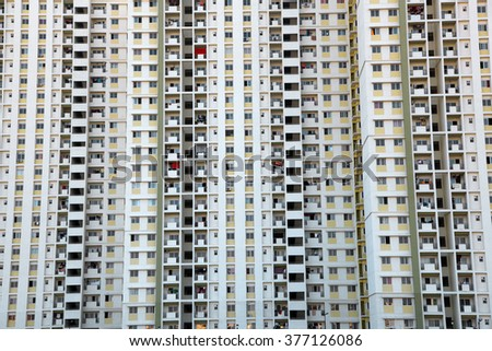Huge apartment complex in Hyderabad India, Building background concept - stock photo
