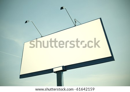 Huge billboard with clear space - stock photo