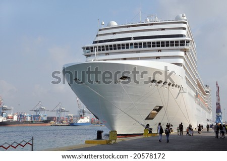 Huge Cruise Ship Standing Port Stock Photo Shutterstock - Huge cruise ship