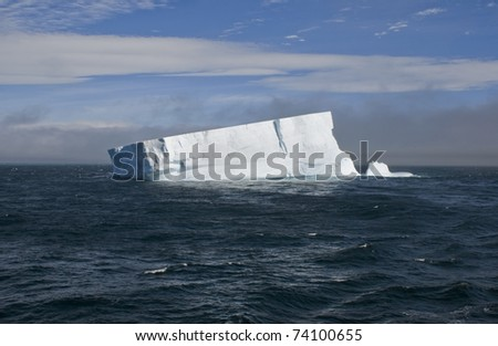 Huge Iceberg at Antarctica - stock photo
