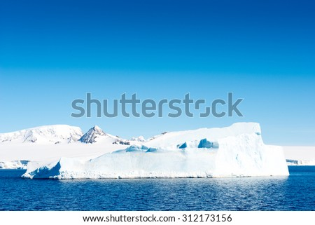 Huge iceberg in Antarctica