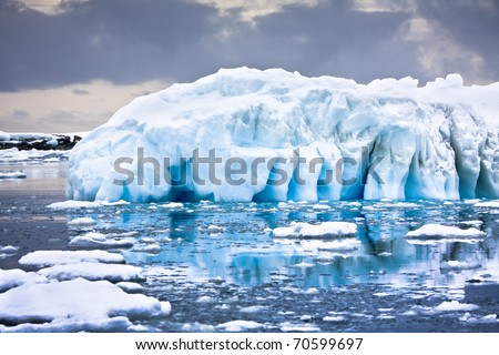 Huge iceberg in Antarctica - stock photo